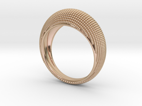 EYE Ring in 14k Rose Gold Plated Brass: Medium