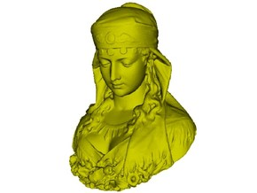 1/9 scale gypsy girl bust in Frosted Ultra Detail