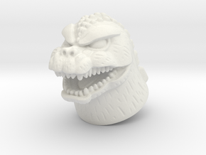 Showa Godzilla Minimate head in White Natural Versatile Plastic