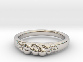 Bubble in Rhodium Plated Brass