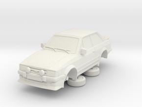Ford Escort Mk3 1-87 2 Door Rs Turbo in White Natural Versatile Plastic