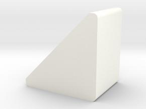 Corner Stop 14.5 in White Processed Versatile Plastic