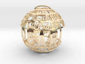 Pearl Quotaball in 14k Gold Plated Brass