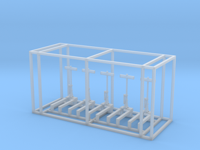 US Switch Stand Z Scale in Smooth Fine Detail Plastic