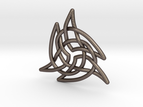Triquetra 4 in Polished Bronzed Silver Steel
