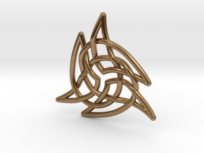 Triquetra 4 in Natural Brass