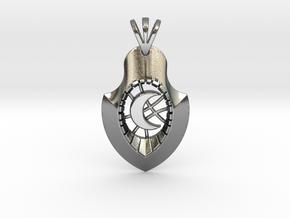 Luna Crescent Arrow in Polished Silver
