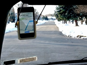 Hands-Free GPS Kit for iPhone in White Strong & Flexible