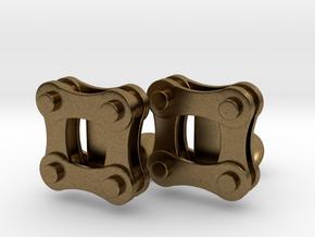 Bike Chain Cufflinks in Natural Bronze
