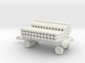 1/144 Scale  Scale SonoBouy Cart Loaded in White Natural Versatile Plastic