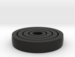 Spinny Fidget in Black Natural Versatile Plastic