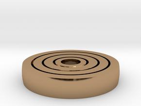 Spinny Fidget in Polished Brass (Interlocking Parts)