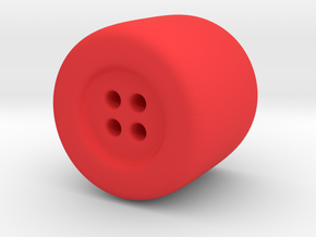 Fat Button in Red Processed Versatile Plastic