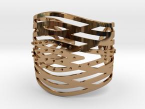 Crisscross Cuff in Polished Brass