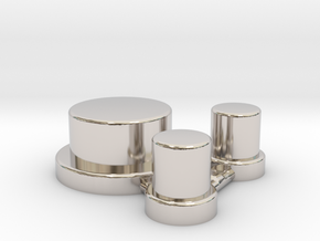Alpinetech Style Actuators in Rhodium Plated Brass