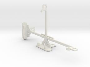 alcatel Flash Plus 2 tripod & stabilizer mount in White Natural Versatile Plastic