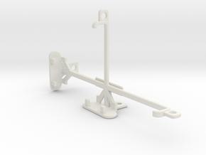 BLU Dash X Plus tripod & stabilizer mount in White Natural Versatile Plastic