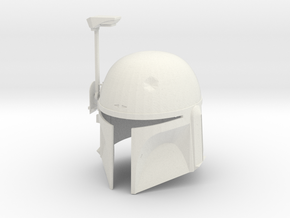 Boba Fett ESB Helmet 1/4th Scale in White Strong & Flexible