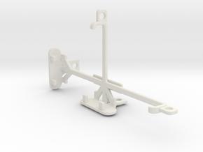 HTC One M9 Prime Camera tripod & stabilizer mount in White Natural Versatile Plastic