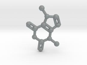 Theobromine (Chocolate) Molecule Necklace / Keycha in Polished Metallic Plastic