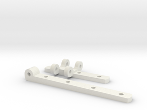Gauge 3 L&Y covered van door hinges in White Natural Versatile Plastic