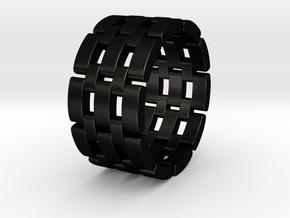Wataru - Ring in Matte Black Steel: 9.5 / 60.25