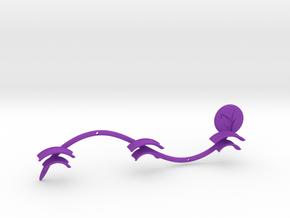Multiple Earphone Wallmount Redesign  in Purple Strong & Flexible Polished