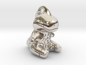 Rappy Pendant in Rhodium Plated Brass