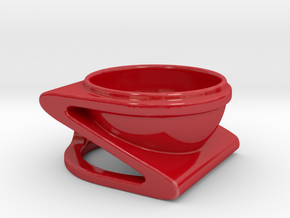 Coffe Cup in Gloss Red Porcelain: Extra Small