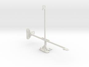 Samsung Galaxy Tab S2 8.0 tripod mount in White Natural Versatile Plastic