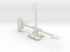 Sony Xperia M2 tripod & stabilizer mount in White Natural Versatile Plastic