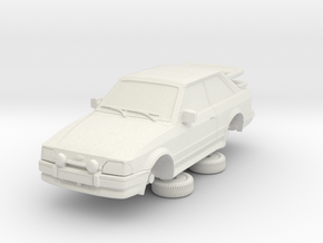 Ford Escort Mk4 1-76 2 Door Rs Turbo Wale Tail Hol in White Natural Versatile Plastic