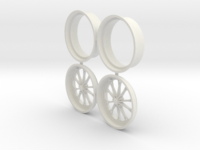 Weld Forged 1 Front 1/8 17inch in White Natural Versatile Plastic