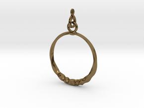 BlakOpal Twisting Hoop Earring in Polished Bronze (Interlocking Parts)