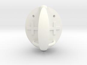 Fudge Covered Apple Die in White Processed Versatile Plastic: d6