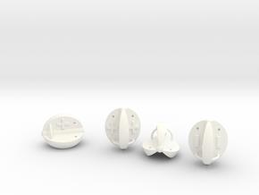 Fudge Covered Apple Die in White Processed Versatile Plastic: Polyhedral Set