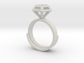 Diamond Ring US 7 3/4 in Full Color Sandstone