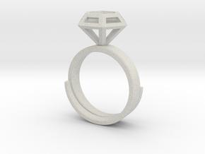 Diamond Ring US 7 3/4 in Full Color Sandstone