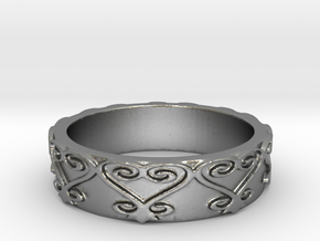 Sankofa Ring Size 7 in Natural Silver