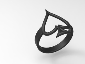 Simple Ace Ring in Black Natural Versatile Plastic: 7 / 54