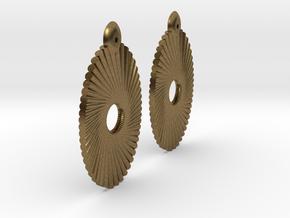 Tubes Earring Pair in Natural Bronze