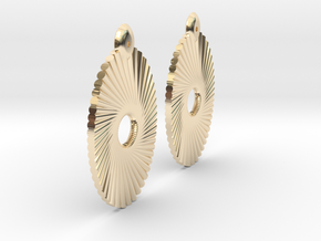 Tubes Earring Pair in 14k Gold Plated Brass