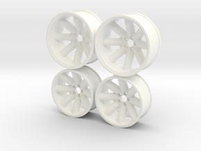 Foose Minilite 1/12 in White Processed Versatile Plastic