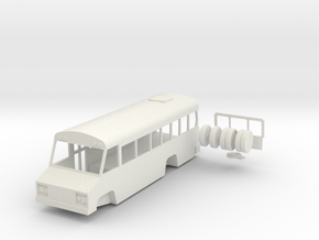 HO scale Blue Bird Mini Bird school bus in White Natural Versatile Plastic