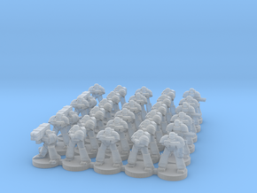 8mm Super Soldier Warriors in Frosted Ultra Detail