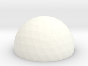 Geodesic Dome 5v 15cm in White Processed Versatile Plastic
