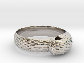 US10 Snake Ring: Tritium in Rhodium Plated Brass