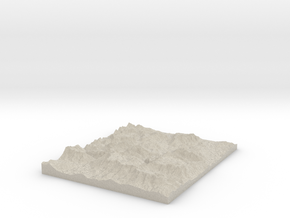 Model of Berchtesgaden Alps in Natural Sandstone