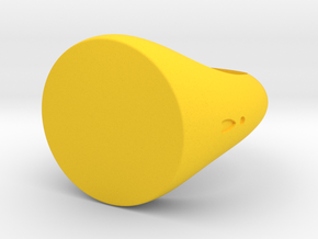 Ring Chevalière Flat Size 5 US in Yellow Processed Versatile Plastic