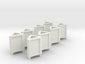 [8st] Driehoek reclamebord 1:87 (H0) in White Natural Versatile Plastic